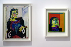 "Two portraits of Dora Maar (1937) by Pablo Picasso ""Picasso-Giacometti"" exhibition in Paris (Sokleine) Tags: picassogiacometti exhibition exposition musepicasso museum muse modernart art culture paris 75004 heritage france doramaar femme woman portraits deux two zwei"