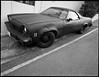 El Camino angular (ADMurr) Tags: la hollywood matte black el camino chevy hasselblad swc fuji acros 120 film