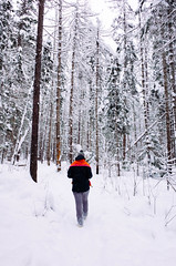 hot pink towel (ulanalee) Tags: ricohgr ricohgrii ricoh ricohgr2 forest nature hiking snow winter idaho
