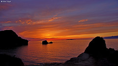 """DSC08008-Sidari-Korfu-Zachód słońca (dreptacz) Tags: sony krajobraz korfu slt morze zachód """"sonyflickraward wyspa lustrzanka woda niebo słońce czerwone pomarańczowy niebieski kolory grecja corfu widok skały klif europa"""