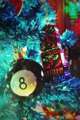 (361/366) 8-Ball Tiki (CarusoPhoto) Tags: hipstamatic 8 ball tiki john caruso carusophoto photo day project 365 366 tree christmas xmas holiday ornament iphone 7 plus