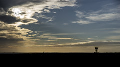 Cirrus, OS Trig Point, and Observation Point (stevedewey2000) Tags: landscape wiltshire salisburyplain trigpoint sigma2470 observationpost watchtower trigonometrypoint cirrus skyscape cloudscape 169