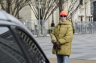 Helen Schietinger Observes an Anti-Torture Demonstration Outside the White House