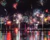 Silvester in Hannover (kaihornung-photography) Tags: neujahr silvester fireworks feuerwerk raketen rockets rathaus townhall reflection wasser lake see hannover germany deutschland joy life party celebration freude