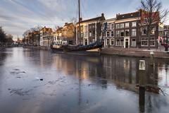 Schiedam, Lange Haven (Jan Sluijter) Tags: schiedam langehaven holland zuidholland netherlands visitholland winter frozen vorst ijs gracht