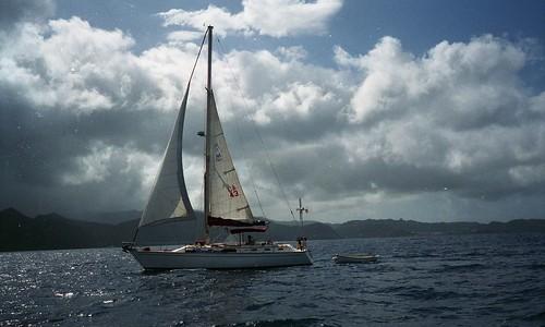 Free Spirit under sail