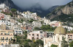Italy (Positano) Buildings constructed on the mountainside