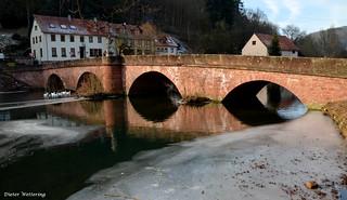 GAMBURG--die Tauber-Brücke im Abendlicht ( Explore Nr. 179 vom 29.01.2017)