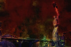 Last (Bamboo Barnes - Artist.Com) Tags: nagasaki japan photo light shadow vivid yellow black bamboobarnes statue acall bulgarian peace atomicbomb red blue green 長崎平和公園 nagasakipeacepark monument purple