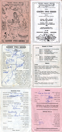 1985 programme signed by the cast