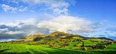 """Galty Mountains ("""" Kamil Malecki Photography """") Tags: mountains spring ireland land field grass clouds green blue panoram absolutelystunningscapes"""