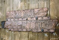 Bronze plaques for door plating from Assur (Merja Attia) Tags: bronzeplaque doorplating shalmaneser assur qalatsharqat mesopotamia assyrian iraq museum ancientorientmuseum istanbul turkey istanbularkeolojimüzeleri ancienthistory