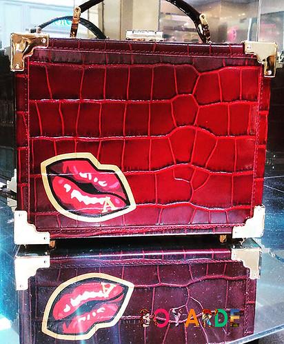 Badge lip closed aspinal box purse copy