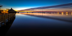 Calm Blue Hour (Ed Rosack) Tags: usa cloudscape calm water ©edrosack lowlight florida longexposure bluehour river cloud highres sky centralflorida sunrise landscape cocoa reflection cloudy dawn