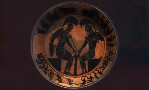 "Petteia - Ludus Latrunculorum  / Iconografía de las civilizaciones helenolatinas • <a style=""font-size:0.8em;"" href=""http://www.flickr.com/photos/30735181@N00/32522206795/"" target=""_blank"">View on Flickr</a>"