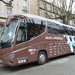 Bus équipe AG2R-La Mondiale/Etoile de Bessèges 2017/5eme étape Alès-Ermitage Contre la montre thumbnail