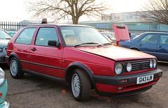 G143 AJM (Nivek.Old.Gold) Tags: 1990 volkswagen golf gti 3door 1781cc aca wrdavies