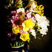 Flowers by lamp light