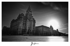 Royal Liver Building (jaygilmour11) Tags: liverpool liver building sun clouds longexposure blackandwhite nikon d750 merseyside cunard portofliverpool liverbirds northwest england moody beautiful leefilters manfrotto bigstopper