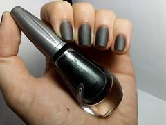 Desafio dos Clássicos #2 - Congo. (Raíssa S. (:) Tags: esmalte unhas nails nailpolish naillacquer fosco gray cinza panvel desafiodosclássicos