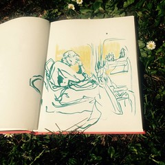 bus sleeper (Overcast Artist) Tags: art notebook book sketch drawing journal sketchbook
