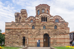 Church of Christ Pantocrator, Nesebar (zsonemes) Tags: old city travel summer travelling tourism church clouds pen lite town europe exterior cloudy antique young olympus traveller bulgaria amateur nesebar hungarian nessebar zd epl5