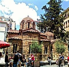 Byzantine church of Panagia Kapnikarea, Athens, Greece.