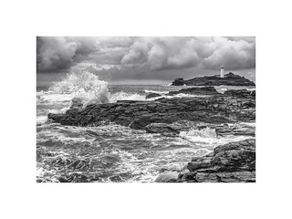 Storm clouds over Godrevy