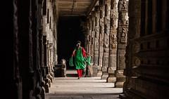 Walking.. (Padmanabhan Rangarajan) Tags: temple gods hinduism kanchipuram kailasanathar ekambareswarar