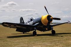 Goodyear Corsair FG-1D (chaz jackson) Tags: fighter duxford corsair goodyear warbird vought gfgid goodyearcorsairfg1d