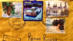 Russia stamps - Mail from St. Petersburg (RiveraNotario) Tags: russia stamps stamp zil philately sellos filatelia estampillas