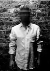 Self Portrait XXVIII of CCCLXV (Semjaja) Tags: longexposure portrait blackandwhite bw selfportrait man brick monochrome wall canon person project365 365days 1100d semjaja jerardvanderwalt