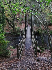 Teign Footbridge under Hunt's Tor (Bridgemarker Tim) Tags: paths crossings teignriver devonbridges finglegorge