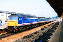 """47701 """"Old Oak Common"""" (Sparegang) Tags: exeter britishrail sulzer 477 class47 networksoutheast westofengland brushtype4 47701"""