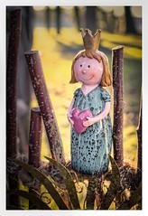 Princess of Heart (memories-in-motion) Tags: original portrait smile zeiss canon fence happy eos iso100 krone heart princess sunny porträt clay 5d stick crown zaun herz f28 ton protect distagon prinzessin 1320sec beschützen canoneos5dmarkiii zeissdistagont1435ze princessofheart