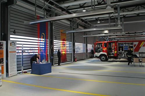 Скоростные ворота для пожарной части .  Hi speed doors. Efaflex.  Швидкісні ворота для пожежної частини.Flughafen Leipzig-Halle_0753