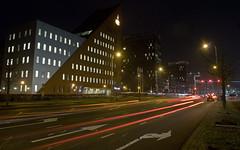 Griffeweg (Arend Jan Wonink) Tags: urban night le lighttrails groningen rabobank sontweg urbanvibe