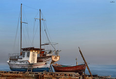boats & colors (dim.pagiantzas   photography) Tags: boats colors colorfull ships sailboat shipyard sky sea seascape water waterscape textures summer bluesky blue outdoor canon