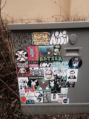 Graffiti stickerart (mcknightpercy) Tags: ratser thimp eddie usa streetart stickers artists street art slap slaps satan stickerporn slaptag urban culture ups streets 2017 flickr photo cincinnati texas sticker tag moniker thimpy wojo