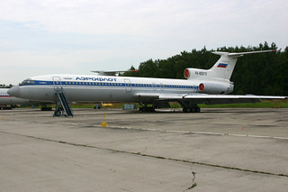 RA-85572 Tupolev Tu.154B2 Aeroflot-titles, operated by Russian Airforce @ Chkalovskaya 17-Aug-2009 by Johan Hetebrij