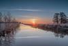 Sonnenaufgang Blockland Bremen (Matthias.Kahrs) Tags: sonnenaufgang sunrise landschaft natur outdoor wasser frost winter sonne sonnenstrahl wolken spiegelung canon 5d canon24105mm 24105mm canon5dmarkiv canoneos5dmarkiv matthiaskahrs weitwinkel matthias kahrs