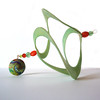 Whirligig Art (CreateMyWorldDesigns) Tags: polymerclay createmyworlddesigns bethpetricoin whirligig whirlygig spiral spinner spin outdoorart pcagoe windcatcher