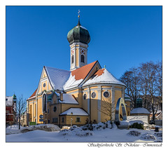 Stadtpfarrkirche St. Nikolaus - Immenstadt (tom22_allgaeu) Tags: europa europe deutschland germany allgäu allgaeu bayern bavaria immenstadt immenstadtimallgäu kirche church stnikolaus winter snow nikon d7200 tamron 18270mm lightroom nikfilter rahmen frame freehand freihand