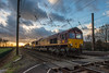 Pure Power (Richard Croft136) Tags: light clouds sky dramatic sunset level crossing foot station yorkshire york copmanthorpe freight diesel vehicle train ews db schenker