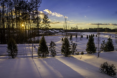 January Sunset (mph1966) Tags: sun sunset snow winter january shadow shadows hdr nc northcarolina raleigh durham canon 7d canon7d 1740 f8 colorsinourworld