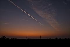 ..traffic in the sky.. (vjsankar) Tags: sky clouds colours jet jetstream jettrail trail kerala trivandrum aakkulam canon canon6d canon2470