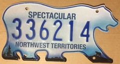 NORTHWEST TERRITORIES 2016 NATURAL ---336214 (woody1778a) Tags: nwt northwestterritories canada mycollection myhobby licenseplate numberplate registrationplate bear bearplate