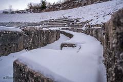 Amphitheater (danielecipriani) Tags: snow nature impero anfiteatro neve storia gladiatori dettagli