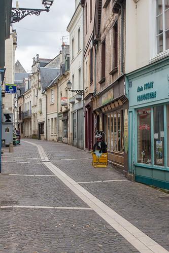 Rue Jean-Jacques Rousseau à Chinon