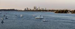 Perth panorama_Swan River_Western Australia